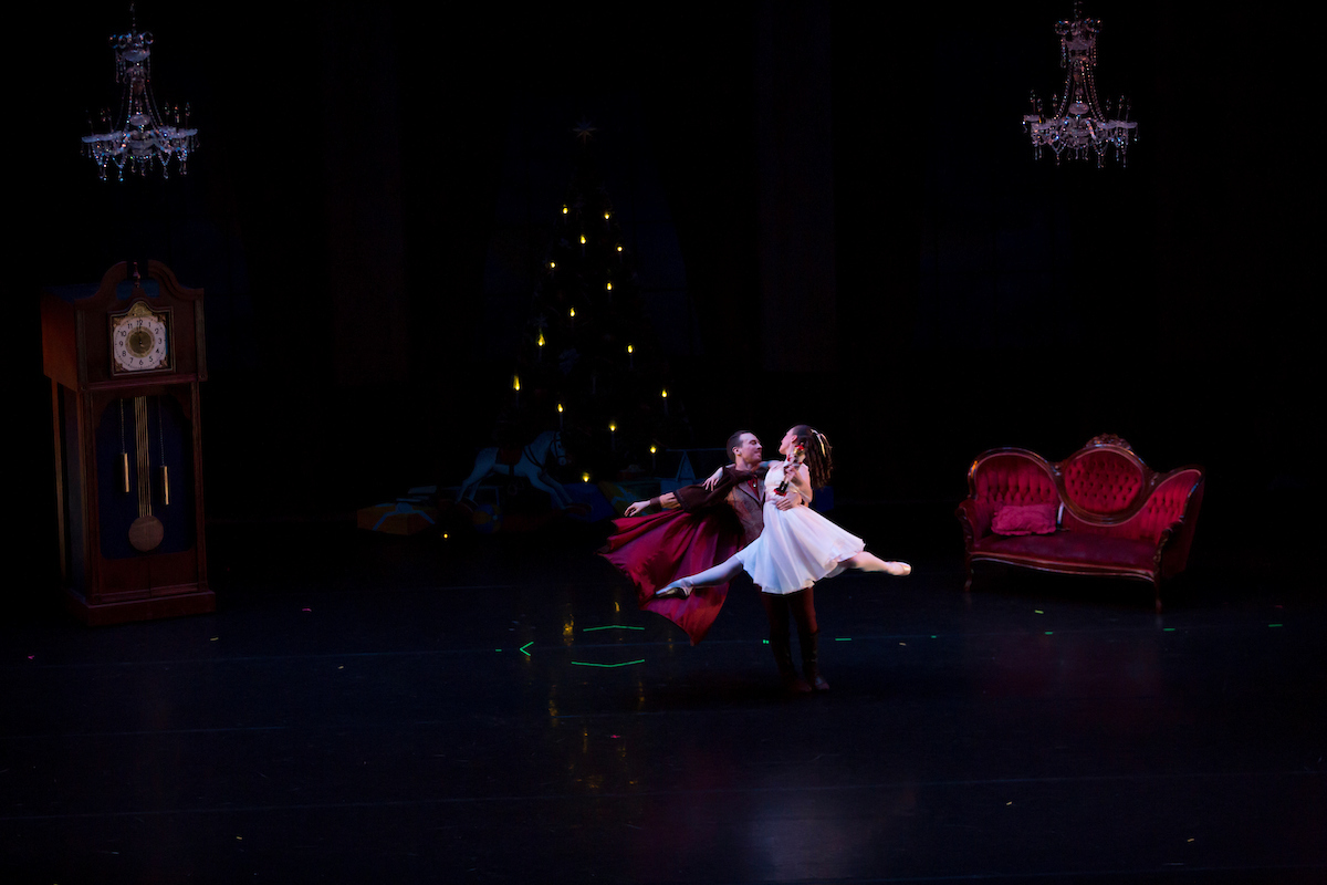 Male and female dancer from a performance of The Nutcracker Ballet