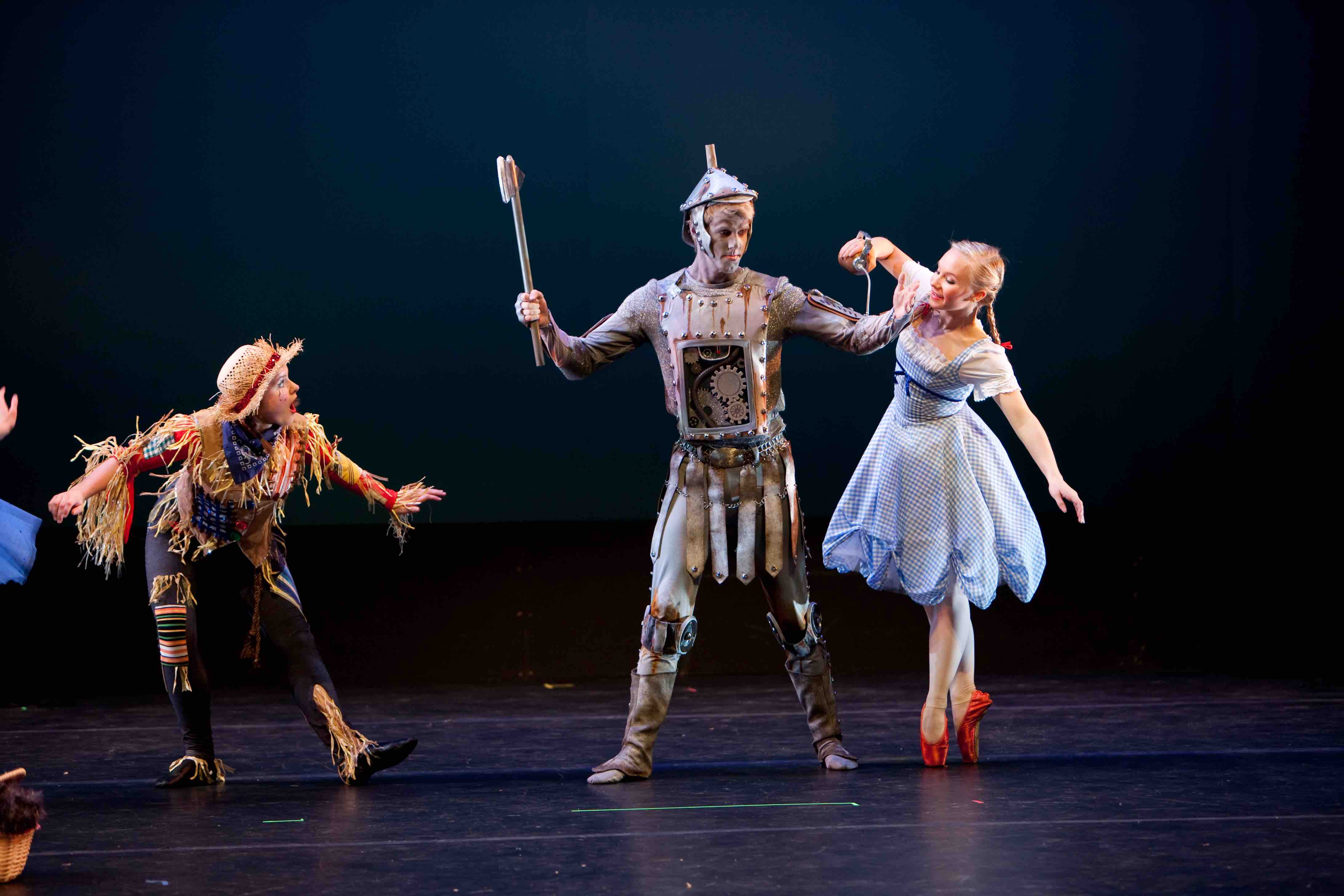 Dorthy oiling the tin man in The Wizard of Oz Ballet