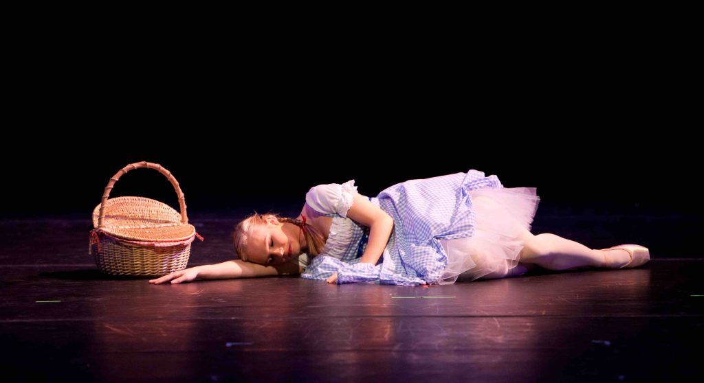 Dorthy asleep from The Wizard of Oz Ballet